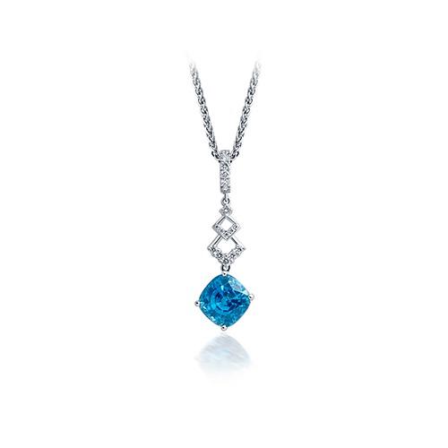 Deonne Le Roux Blue Zircon Pendant