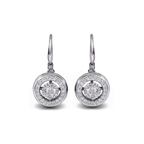 Halo Diamond Earrings